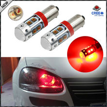 High Power 50W Brilliant Red10-CRE'E XB-D BAX9S H6W T4W LED Bulbs For Car Parking Light, Brake Lights,Rear Lights,DRL