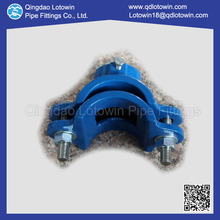 Ductile Iron Pipe Saddle Clamp Fusion Bonded Epoxy Coating Piping Fittings