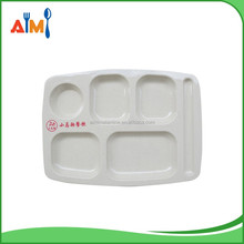 100% melamine section serving tray for fast food