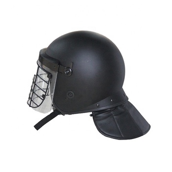 High quality anti riot police safety helmet with grid face protection