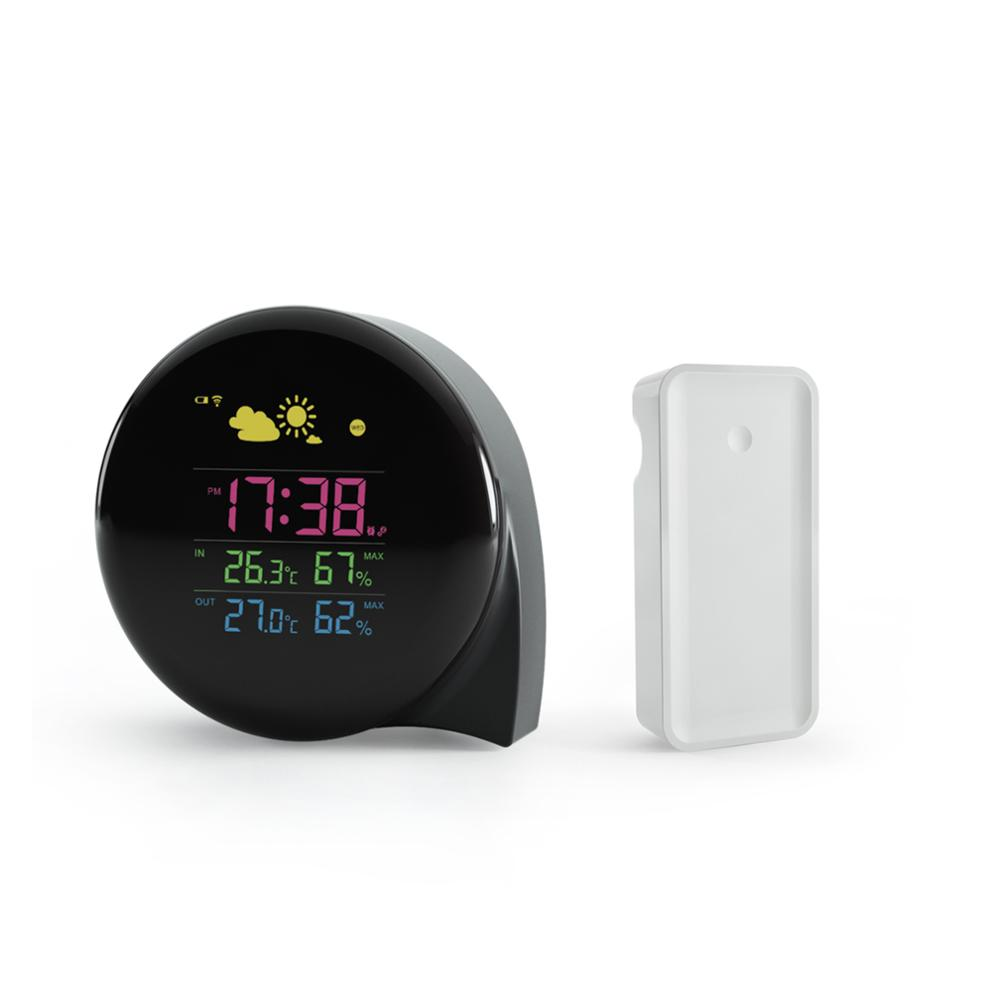 Wholesale table clock, wireless weather station with sensor receiver