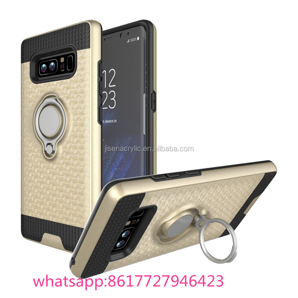 Dual Layer Hybrid Armor Shockproof Case With Ring Stand for Samsung Galaxy Note 8