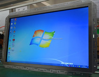 "19"" to 42"" vertical use 4 points IR multi touch screen open frame LCD monitor displaying advertisement"