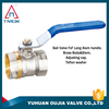 4 inch yuhuan brass ball valve high quality in TMOK and one way motorize and control valve nickel-plated cw617n material