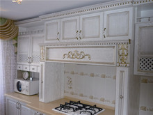 alder solid wood kitchen furniture cabinet classic design China factory