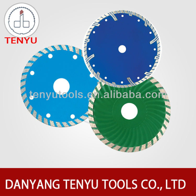 Continuous diamond saw blade dry 4 inch cutting disc for granite