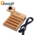 5 in 1 Station Holder for Apple Watch and Mobile phone with 3 USB Charger Ports Wooden Charging Station W903