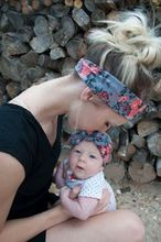 MOON BUNNY Mom and Me <strong>Headband</strong> With Knit Fabric Baby Girl <strong>Headband</strong> Mommy and me Matching <strong>Headbands</strong> Photo Prop Gift for Mom and B