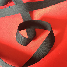 Black Recycled Polyester Webbing For Braided Bags