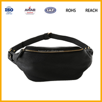 Small PU Leather Mens Casual Phone Shoulder Sporting Waist Bag