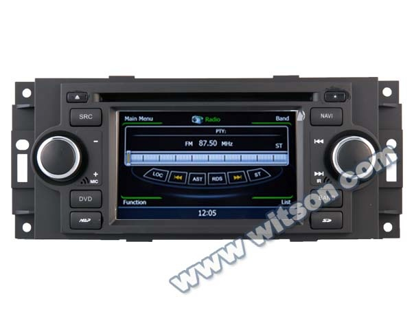 WITSON JEEP GRAND CHEROKEE/COMPASS 2007-2010/PATRIOT 2008-2009 CAR RADIO WITH A8 CHIPSET DUAL CORE 1080P V-20