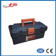 household durable plastic tool storage box with removable tray