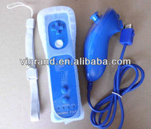 Remote and Nunchuk controller for wii blue color