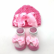 Baby kids gift shoes newborn baby hat