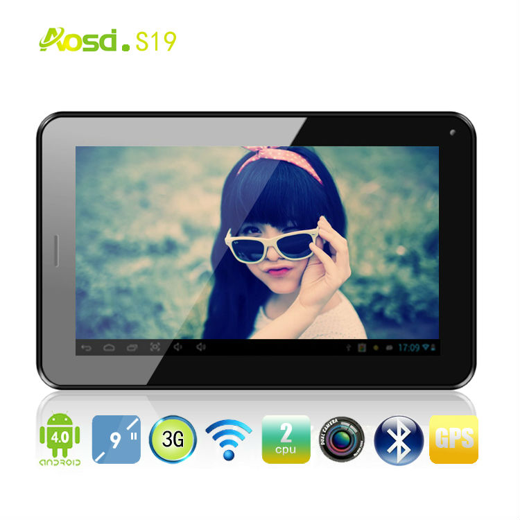 9 inch Andrid 4.0 Tablet PC Phone MTK6577 dual core cortex A9 dual camera GPS Bluetooth 3g phone call tablet