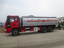 6X4 FAW 25000l chemical liquid tanker truck for HCL 30%/NaOH 32%/NaCl. NaClO
