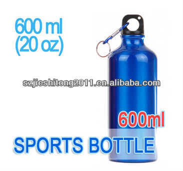 Sports Drinking Water Aluminum Bottle Blue color Canteen 600ml(20oz)