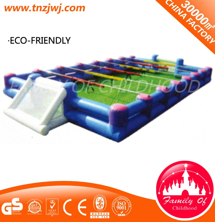 Laser tag PVC football field bouncy castle inflatable slide