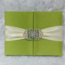 boxed wholesale wedding silk invitation folio