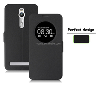 With view window leather flip cover case for ASUS ZenFone 2, smart case cover for ASUS ZenFone 2