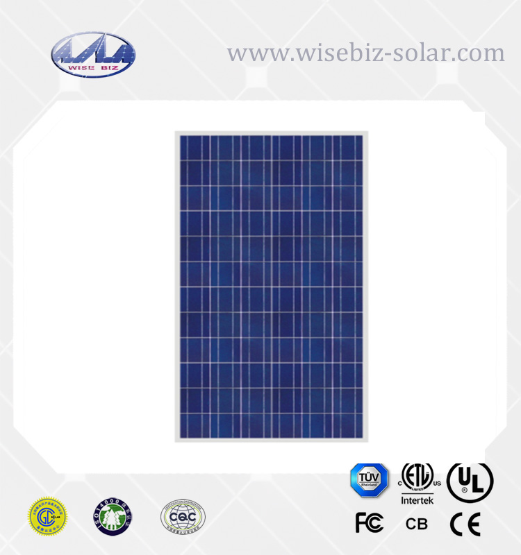 Germany solar world cell 250W 30V poly solar panel with outlet