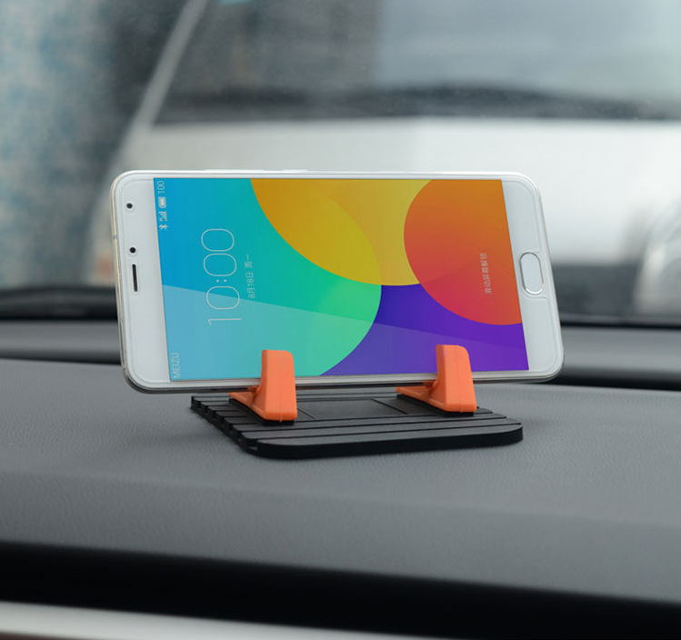 Portable 360 degree rotation car stents mobile phone holder, silione non-slip car The silicone holder for dashboard and desk