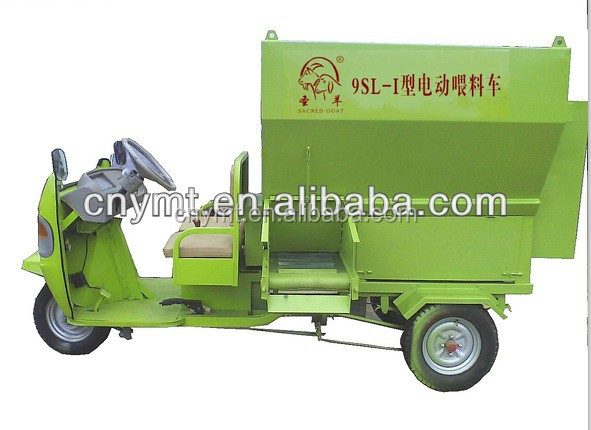 environment protection Electric motor-driven feed spreader for cow