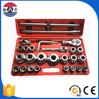 China Golden Supplier Blue Rim 26pcs Metric Cr-V 3/4 DR Complete Tool Box Set