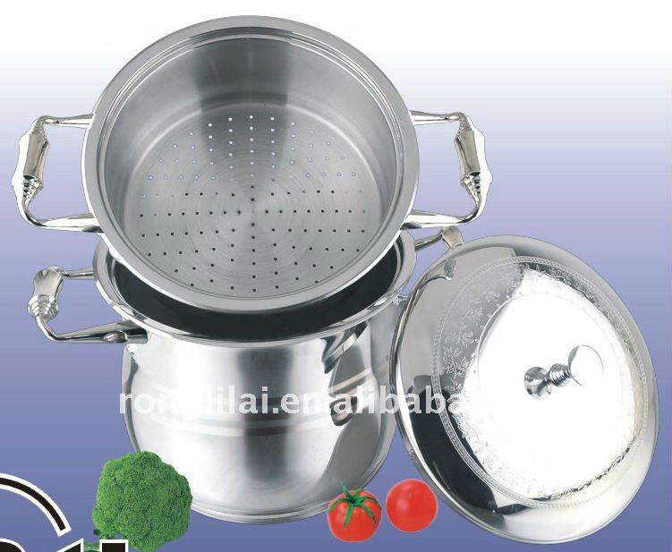 Stainless steel couscous pot/couscoussier/steamer