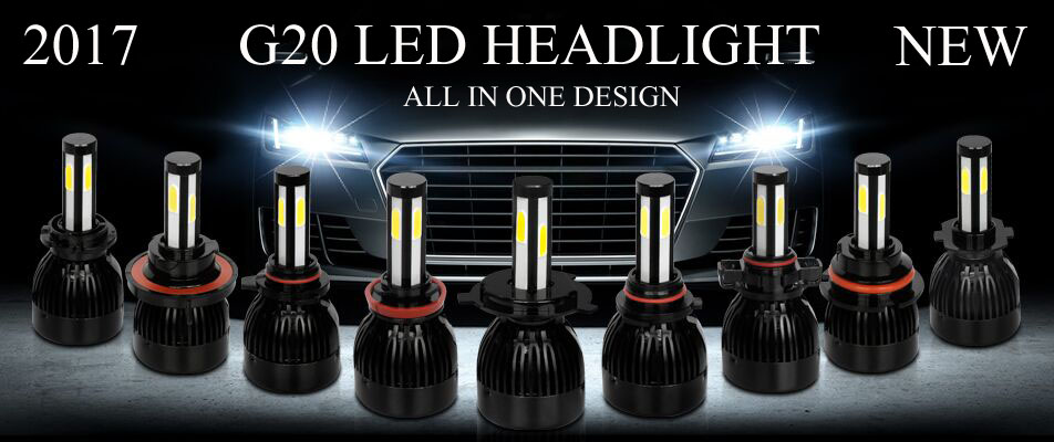 2017 new auto parts super bright led headlight bulb h4 80w 96w12v 24v h1 h7 h11 h13 9004 9007 9005 9006led light car accessories