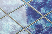 Blue color ceramic mosaic tile swimming pool construction materials