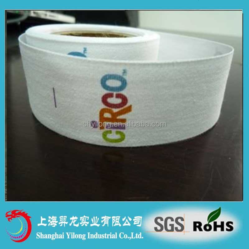 polyester care printed label for pillow