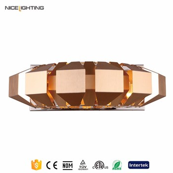 Chrome gold aluminium modern hotel wall mounted bedside lamp