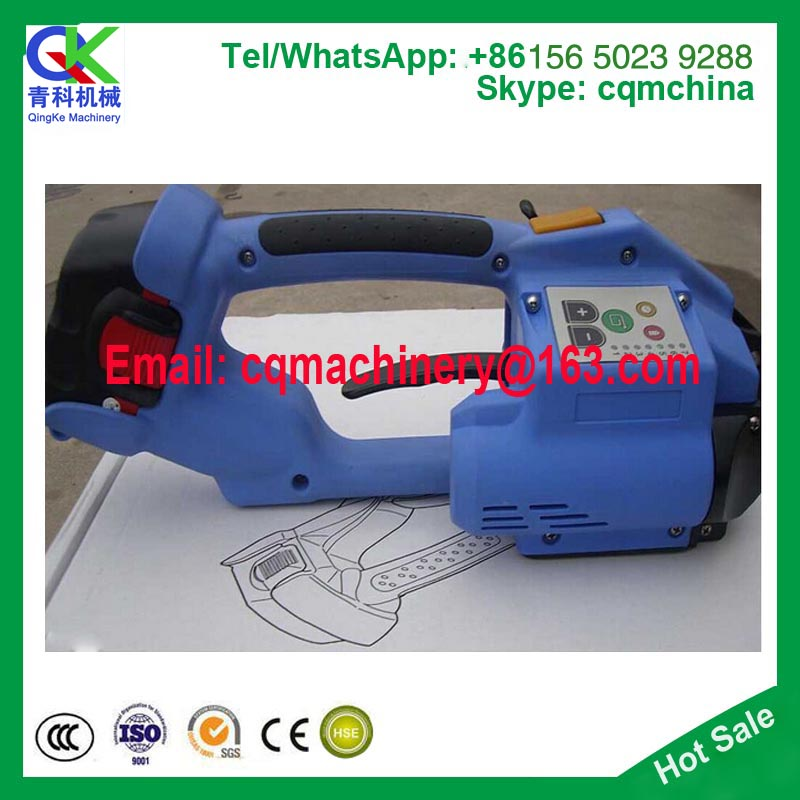 Battery Powered plastic Strapping Tool, Portable Electric binding machine ,strapping tensioner