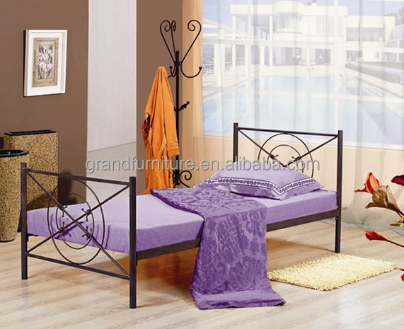 Metal single bed/iron bed frame for children home furniture