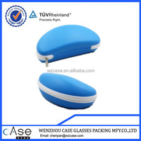 WZ Blue PU eyeglass eva case for sunglass with zipper H81CASE