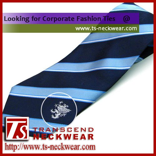 Woven Silk Necktie with Custom Logo tie corporate logo tie