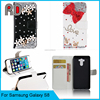 Free Sample 3D DIY Crystal Diamond Phone Leather Case for Samsung Galaxy S8 G9500 Flip Leather Cover for S8