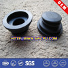 Custom made black rubber threaded suction cup