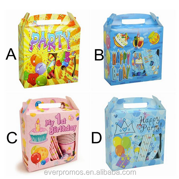 Wholesale Custom Food Grade Disposable Kids Happy Birthday Party Sets High Quality Paper Plate