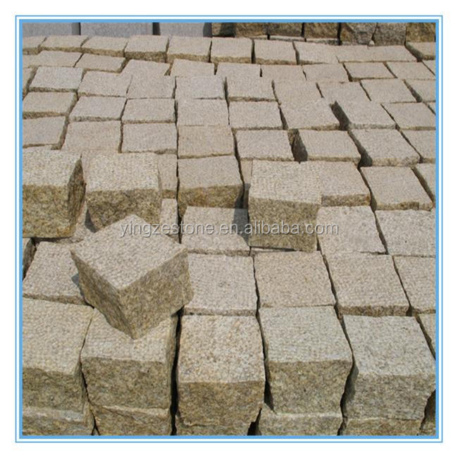 Hot Sale G350 yellow cobblestone patio pavers for project