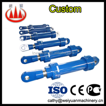 Small two-way telescopic hydraulic cylinder