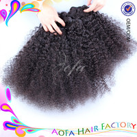 Direct factory supply new style 7a grade kinky curly sex vagina with hair 27 piece kinky curly hair weave