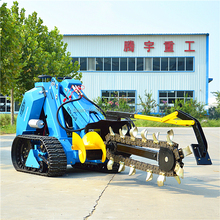 Mini skid loader with trailer, trencher, trencher back fillter, power rake for sale
