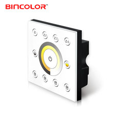 P6X+R4-2.4G Wall Mount Touch Panel 220V 230V Dmx512 2.4G Color temperature Led Dimmer Dmx 512 CT Light Controller