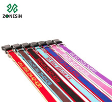 Personalized Custom Name Eco-friendly Bamboo Embroidered Dog Collars Leashes