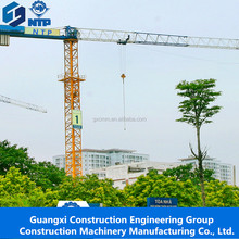 Guangxi NTP TCT5512 crane tower 6ton mini topless tower crane price for sale