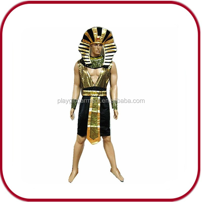 2015 wholesale Egyptian pharaoh adult costume PGMC-2154