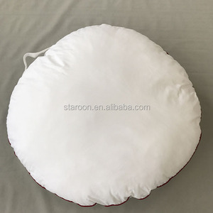 Customized round cushion polyester ball fiber filling pillow polyester ball silicone filled pillow