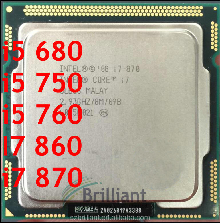 for Intel Core i5 680 i5 750 i5 760 I7 860 i7 870 cpu LGA1366 Desktop CPU LGA 1156